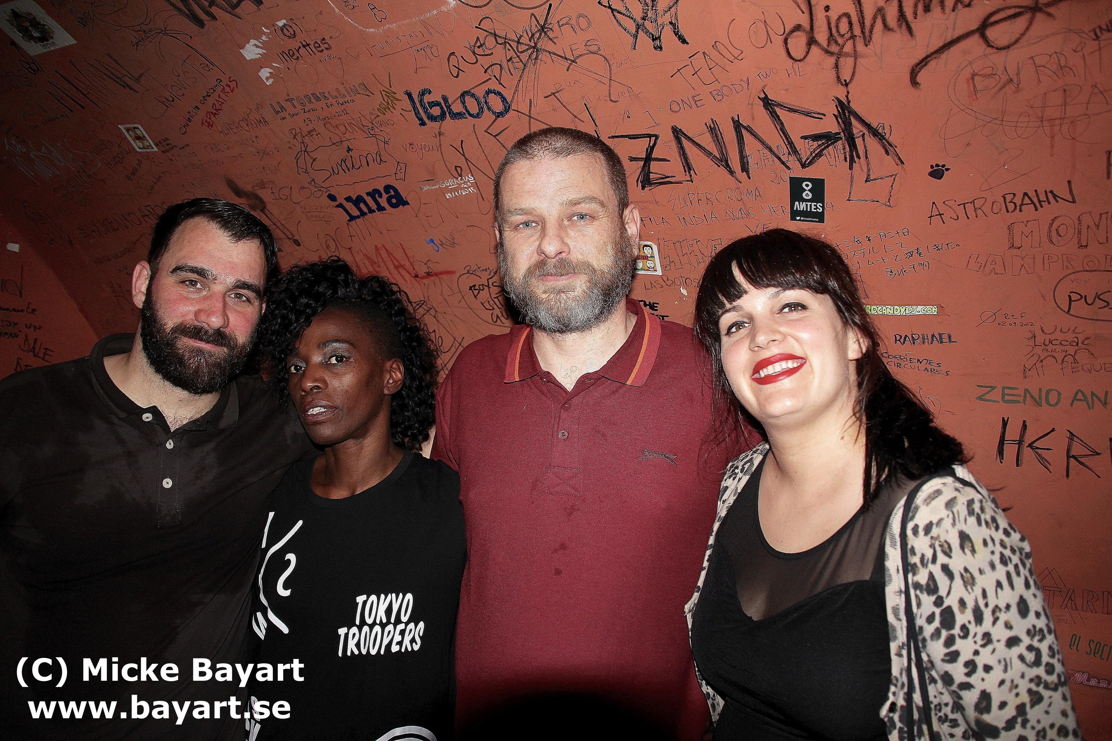 Carlos D´Orive, Dnoe laMiss, Rafa, Pilar Crespo, Madrid (June 2015).