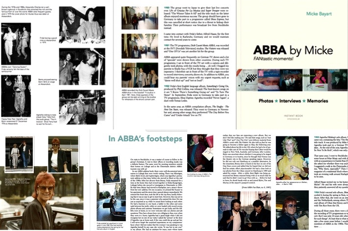 Samples of pages from the book 'ABBA by Micke'.